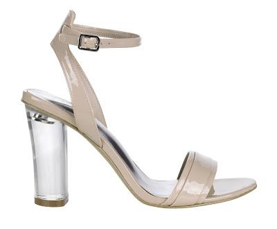 nude perspex heel shoes