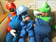 Mario, Luigi, mushroom. And then there's the fun of trickortreating!