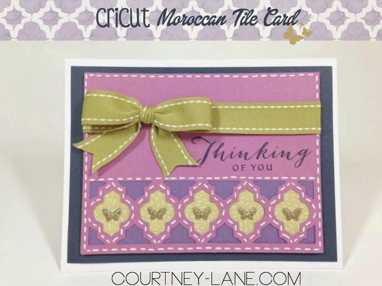 Cricut Moroccan Tile card