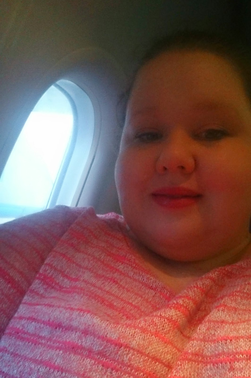 large person on plane