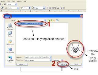 Langkah Mudah Merubah File Format JPG Menjadi Vector, Tutorial Lengkap CorelDraw