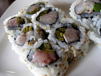 Yellow Tail Jalapeno Roll at Natsumi Restaurant in New York, NY - Photo by Michelle Judd of Taste As You Go