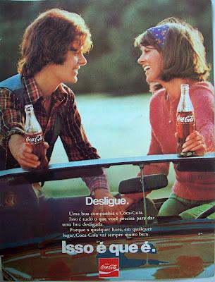 propaganda Coca-Cola - 1975. coca cola.década de 70. os anos 70; propaganda na década de 70; Brazil in the 70s, história anos 70; Oswaldo Hernandez;