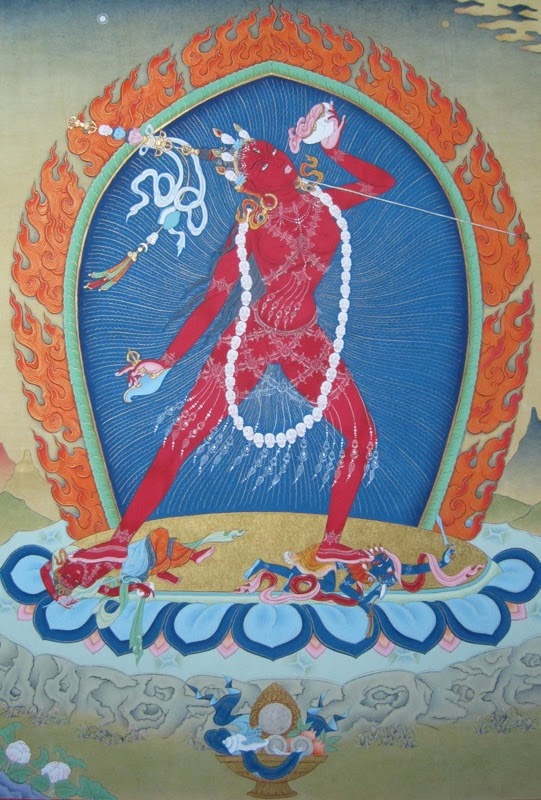 red yogini
