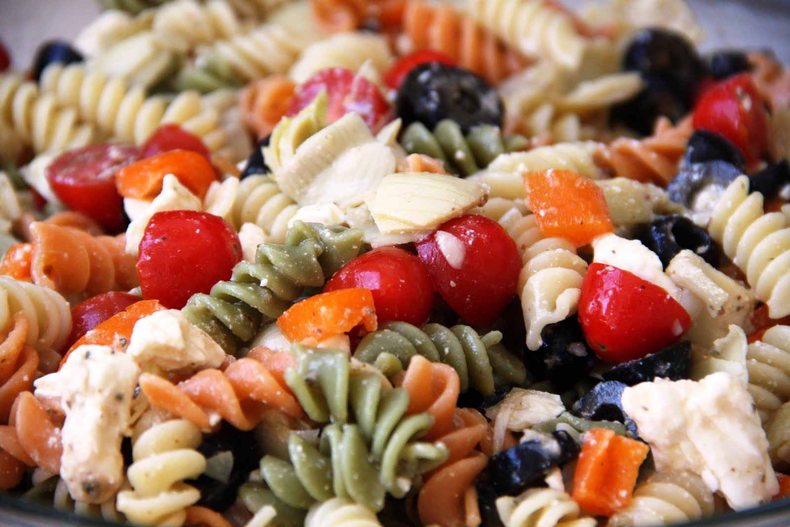Summer Pasta Salad Gluten Free Option Vegan