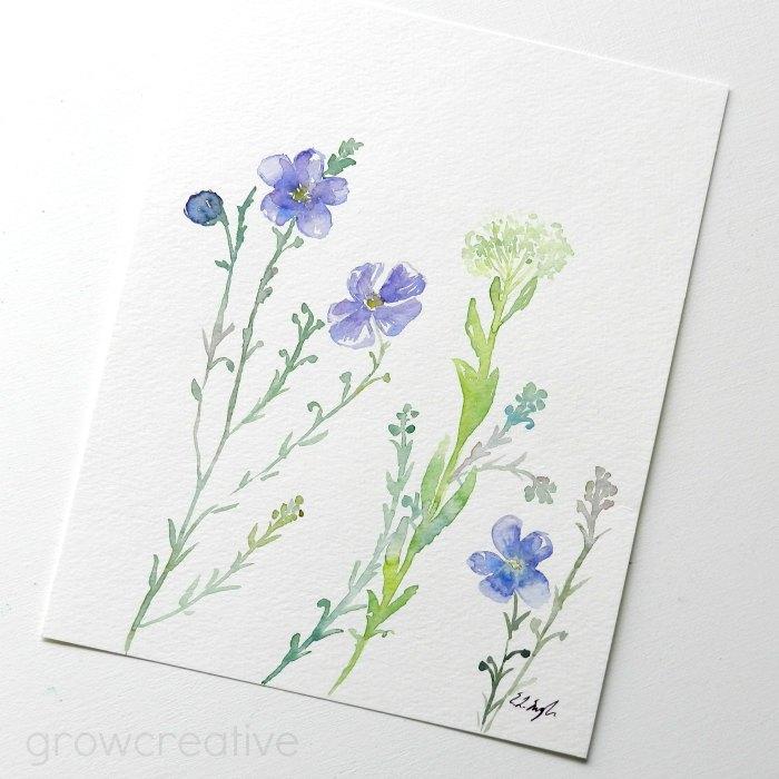Original Watercolor Wildflowers by Elise Engh: Grow Creative