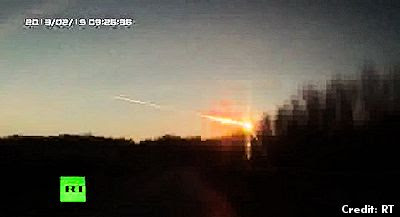 Meteorite Crash in Russia - UFO Fears Spark Panic in the Urals 2