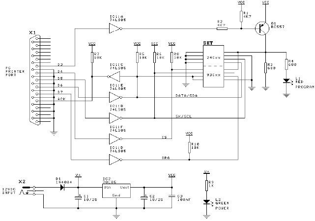 electronics projects  serial eeprom programmer