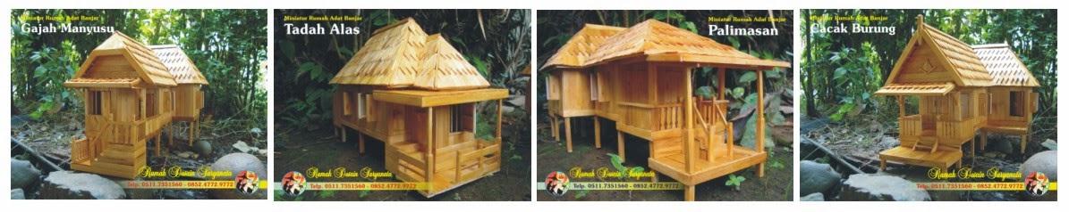 Miniatur Rumah Adat Banjar