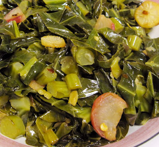 collard greens with radishes