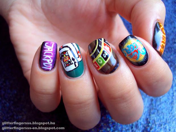 nail art viva vegas glitterfingersss