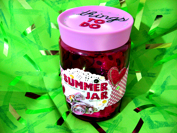 Summer Activities Jar - Things To Do - by Desi (Italian Scrapaholic Gal)