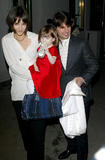 Katie, Tom & Suri, Here have Katie-tom with child suri