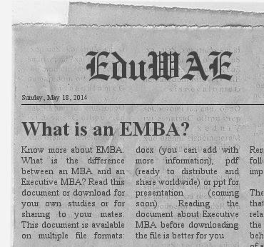 What is an EMBA Executive MBA