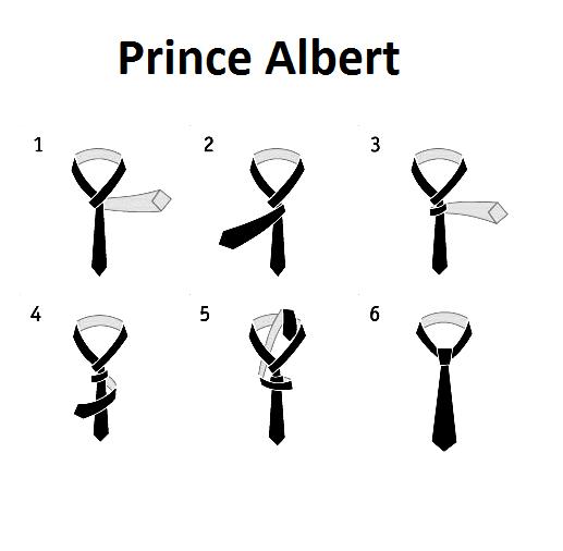 Как завязывать галстук узлом принц альберт