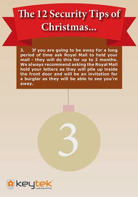 Tip 3 of Keytek Locksmiths The 12 Security Tips of Christmas