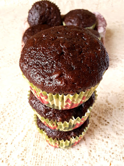Dark Chocolate and Cherry Weetabix Muffins - no added fat treats!