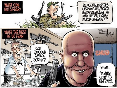 """""""Gun Nuts"""" — Projection, deliberate and otherwise, amongst the hoplophobes."""