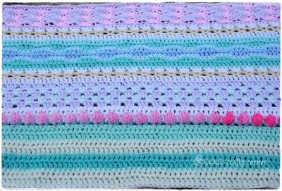 blanket, stash-buster, pretty, romantic, easy, crochet