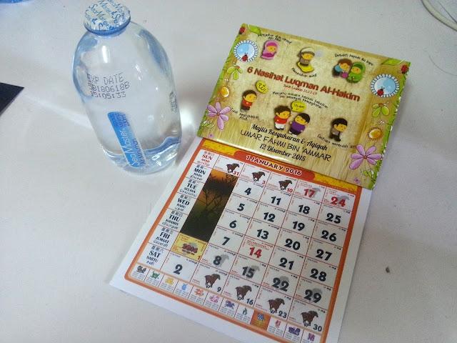 tempah kalendar mini
