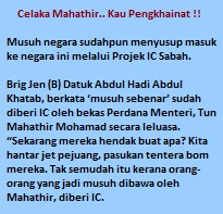 Celaka, Haramjadah, Sundal punya Mahathir.. Engkau Pengkhainat !!