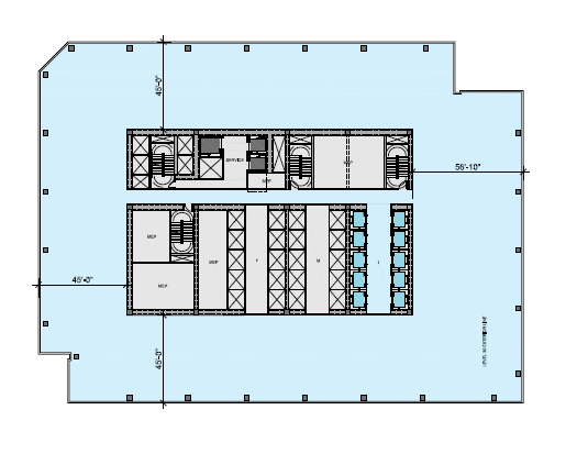 Picture of north tower lower floor plan