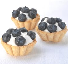 Mini White Chocolate Blueberry Tartlets