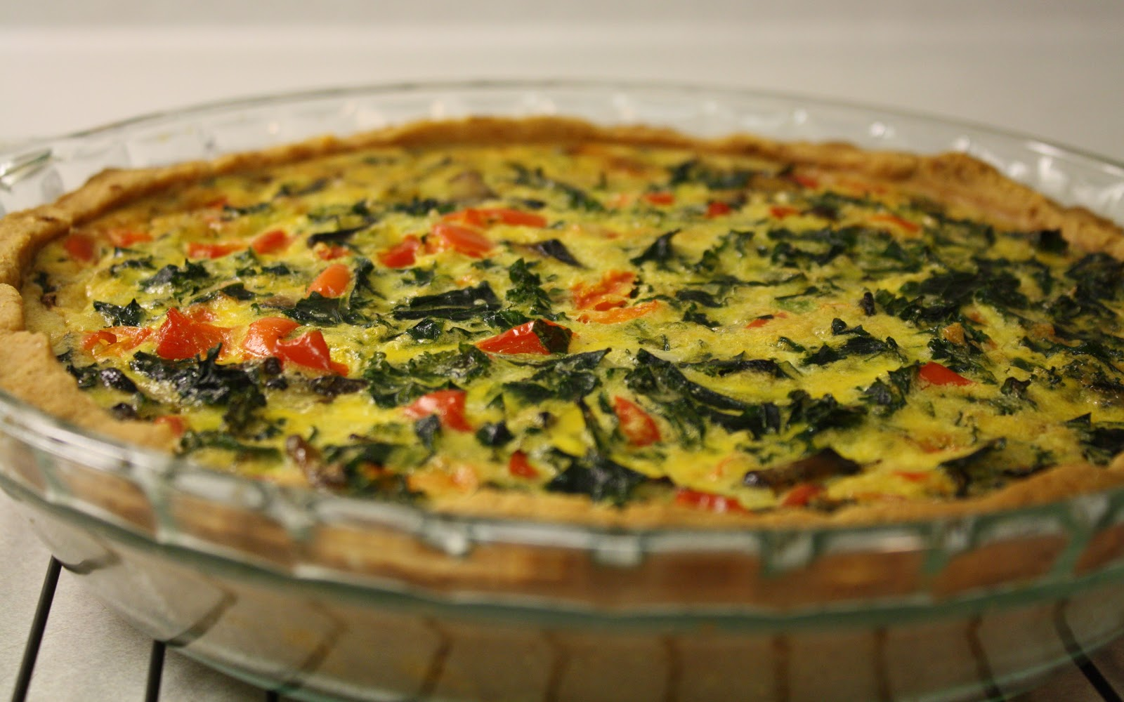 Red Pepper Kale Quiche - grain free