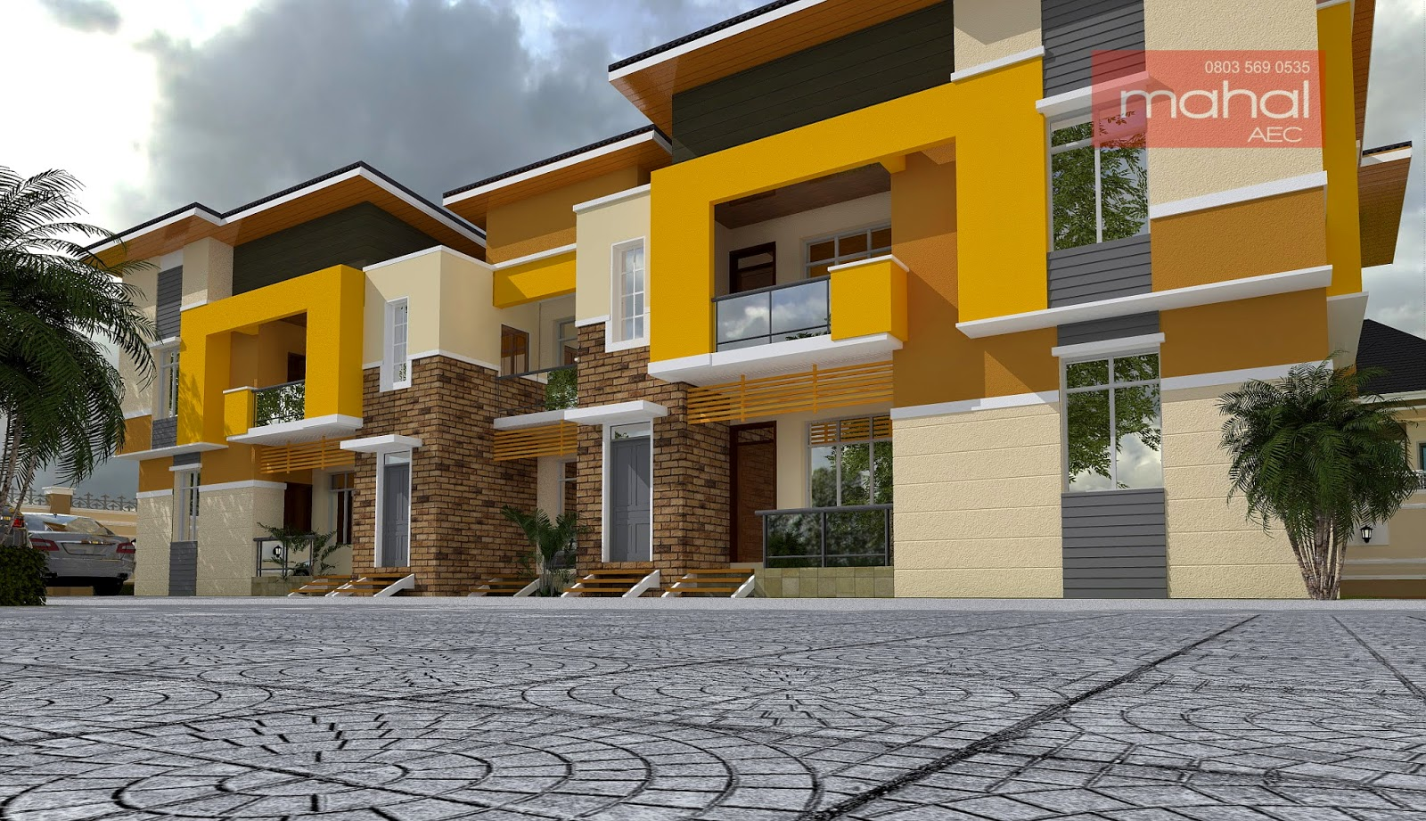 Contemporary nigerian residential architecture agbeyi for Apartment plans in nigeria