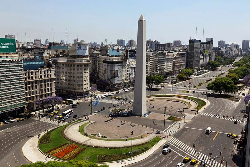 Avenida 9 de Julio and the obelisk.