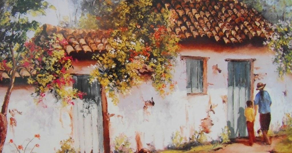 Pinturas cuadros lienzos al leo cuadros de casas de pueblos - Cuadros de casas ...
