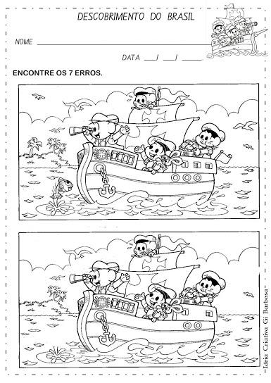 Atividade Sete Erros Descobrimento do Brasil