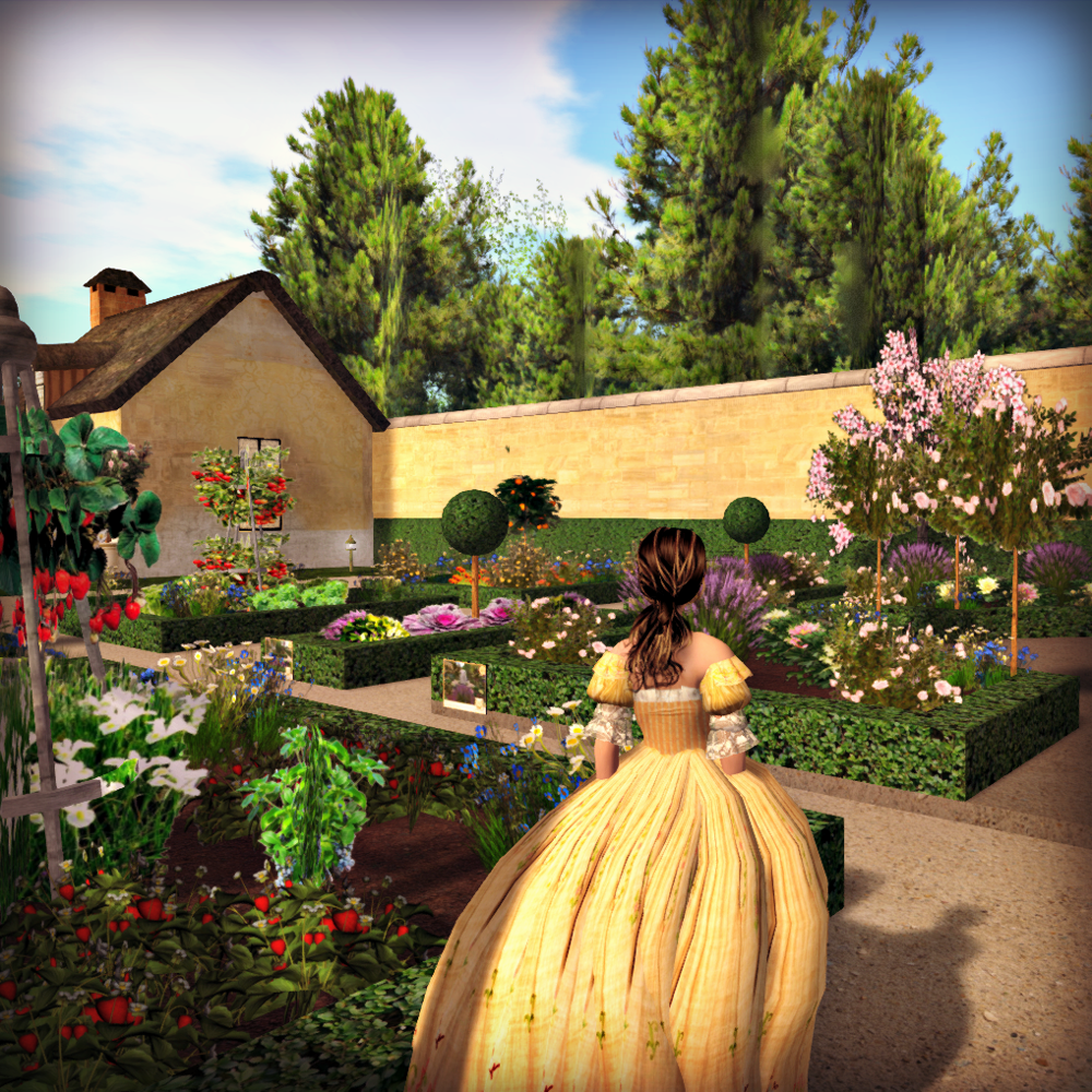 Ornamental Kitchen Garden Tatianas Tea Room My Adventures In Virtual Gardening