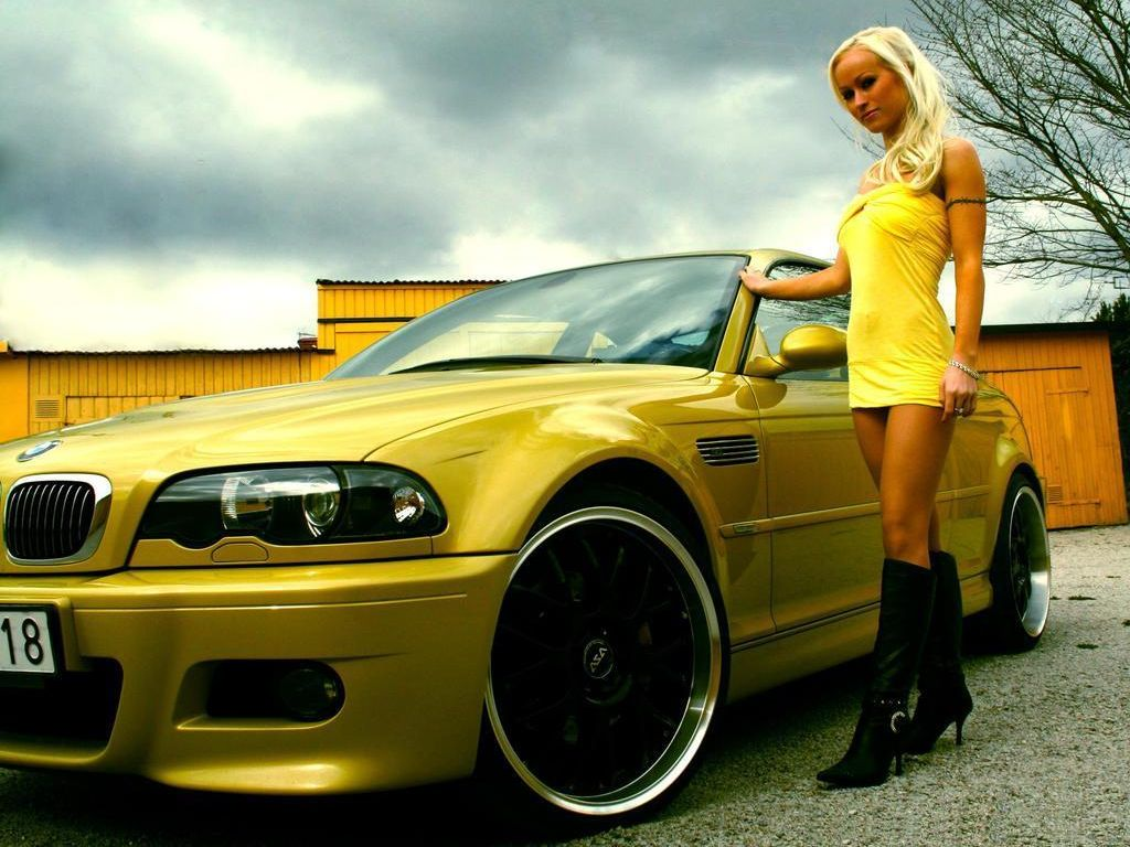 Auto Car Pass Hot Girl Car Bmw 05