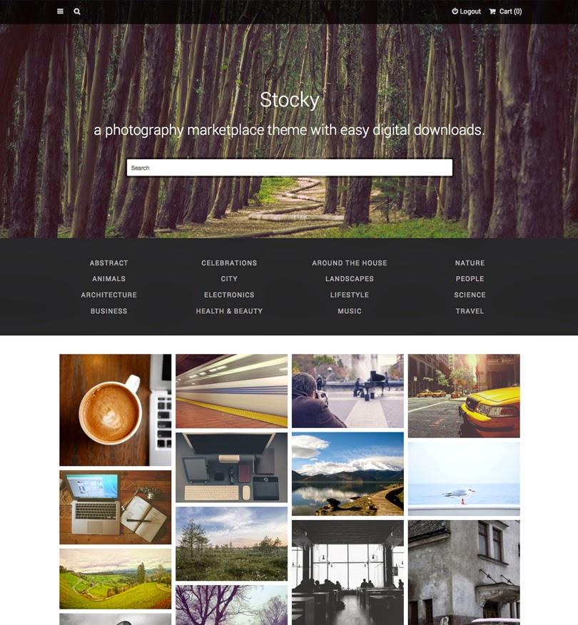 Stocky – A Stock Photography Marketplace Theme