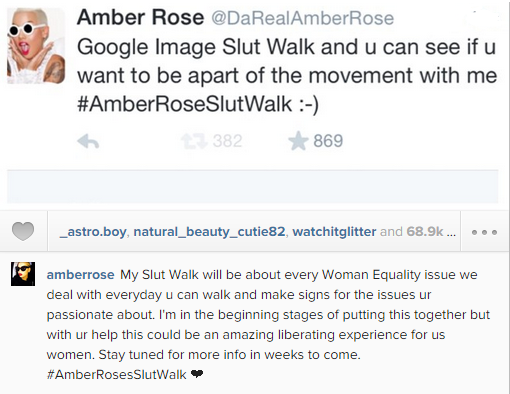 "Amber Rose Stars A Women Equality Movement Called ""Slut Walk"" After Sharing Her Hookah Beach Photos"