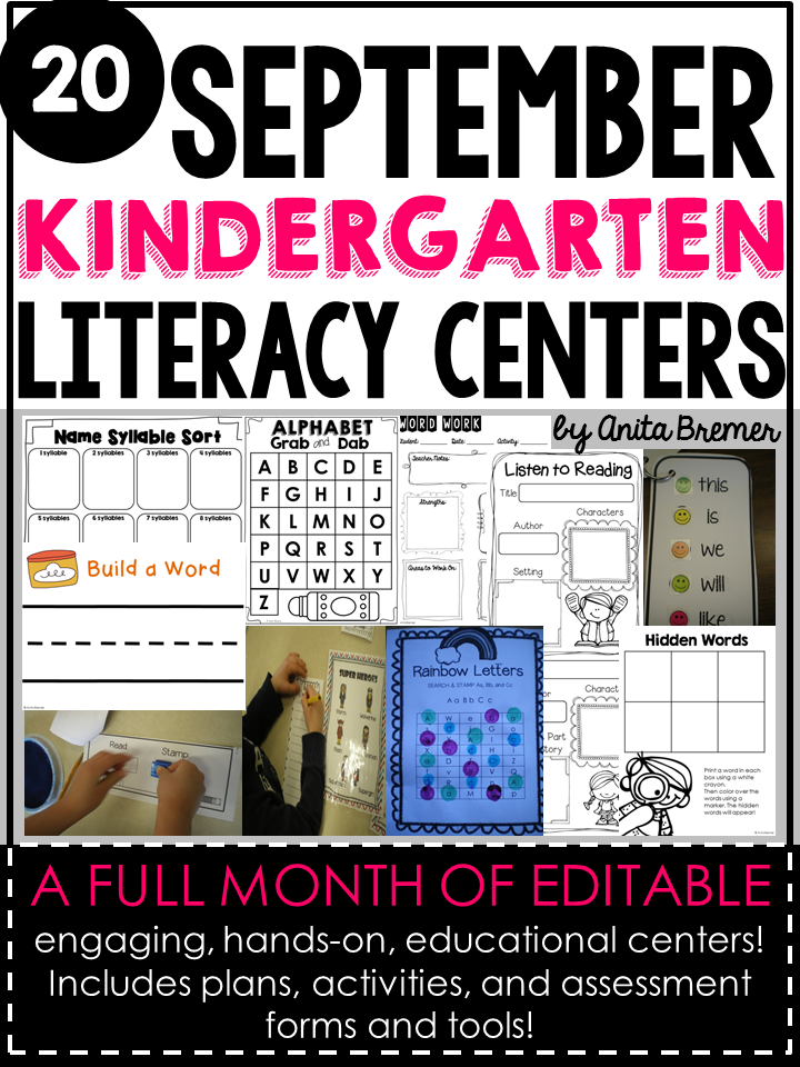 LITERACY CENTERS FOR THE YEAR