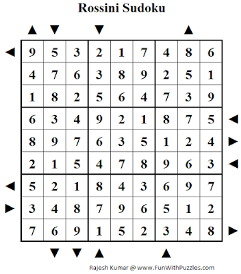 Rossini Sudoku (Fun With Sudoku #145) Solution
