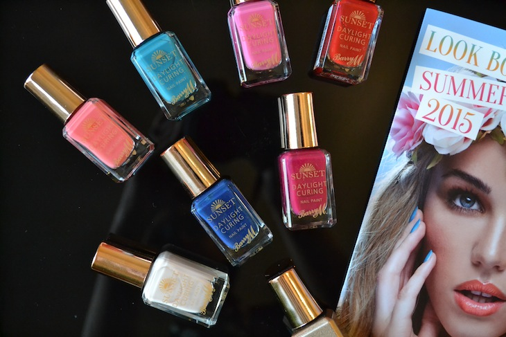 Barry M Sunset Daylight curing nail polish swatches