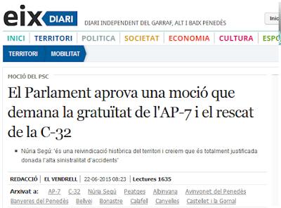 http://www.eixdiari.cat/territori/doc/56074/el-parlament-aprova-una-mocio-que-demana-la-gratuitat-de-lap-7-i-el-rescat-de-la-c-32.html