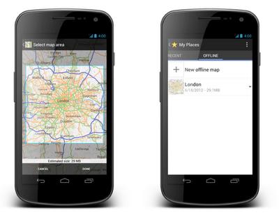 Android, Google maps, offline, sin conexión, sin internet, Google, Google Maps sin conexión para Andorid