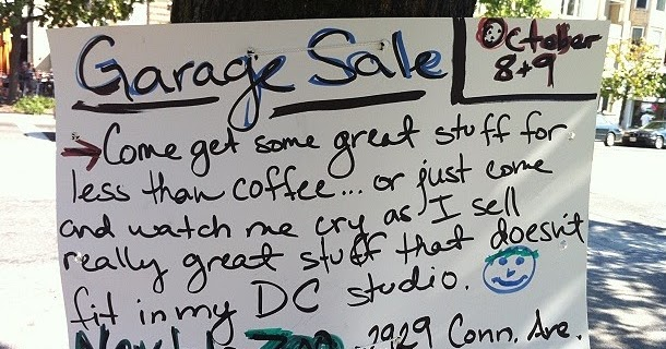 Craigslist Okc Garage Sales >> GARAGE SALE SIGN-OF-THE-WEEK: Crybaby | OKC Craigslist Garage Sales