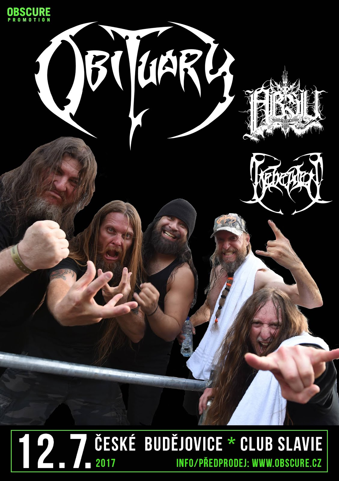 12. 7. 2017 - OBITUARY, ABSU, BEHEADED!