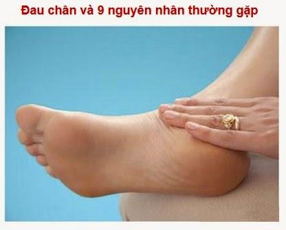9 nguyên nhân thường gặp của bệnh đau chân