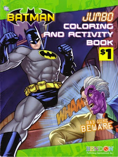 Front cover of Bad Guys Beware Batman jumbo coloring and activity book