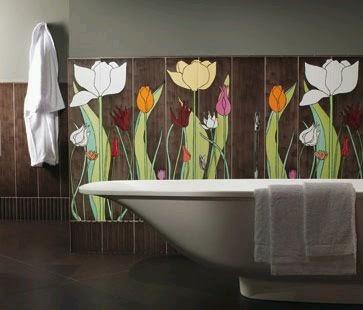 Paredes de ba os modernos ideas para decorar dise ar y - Paredes de banos modernos ...