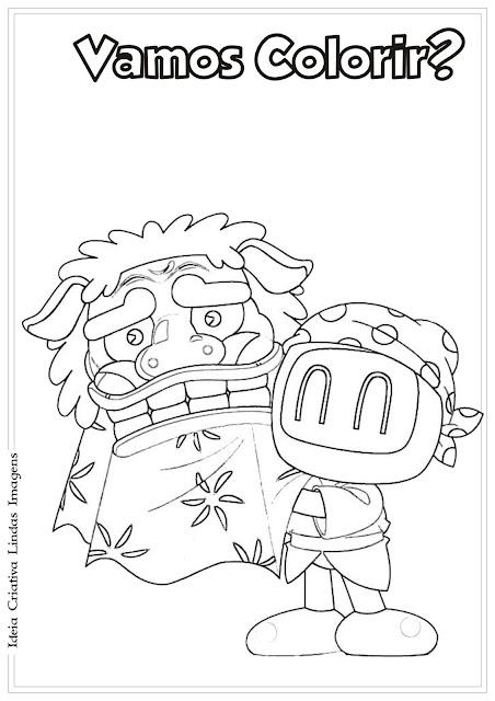 Desenho do Bomberman para colorir
