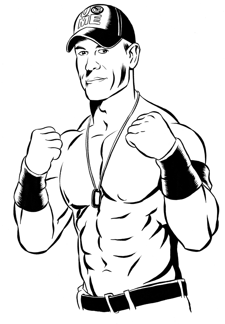 Wrestling Coloring Page_wwe Coloring Pages John Cena Archives New Wwe Coloring Pages