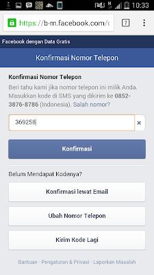 daftar facebook via HP