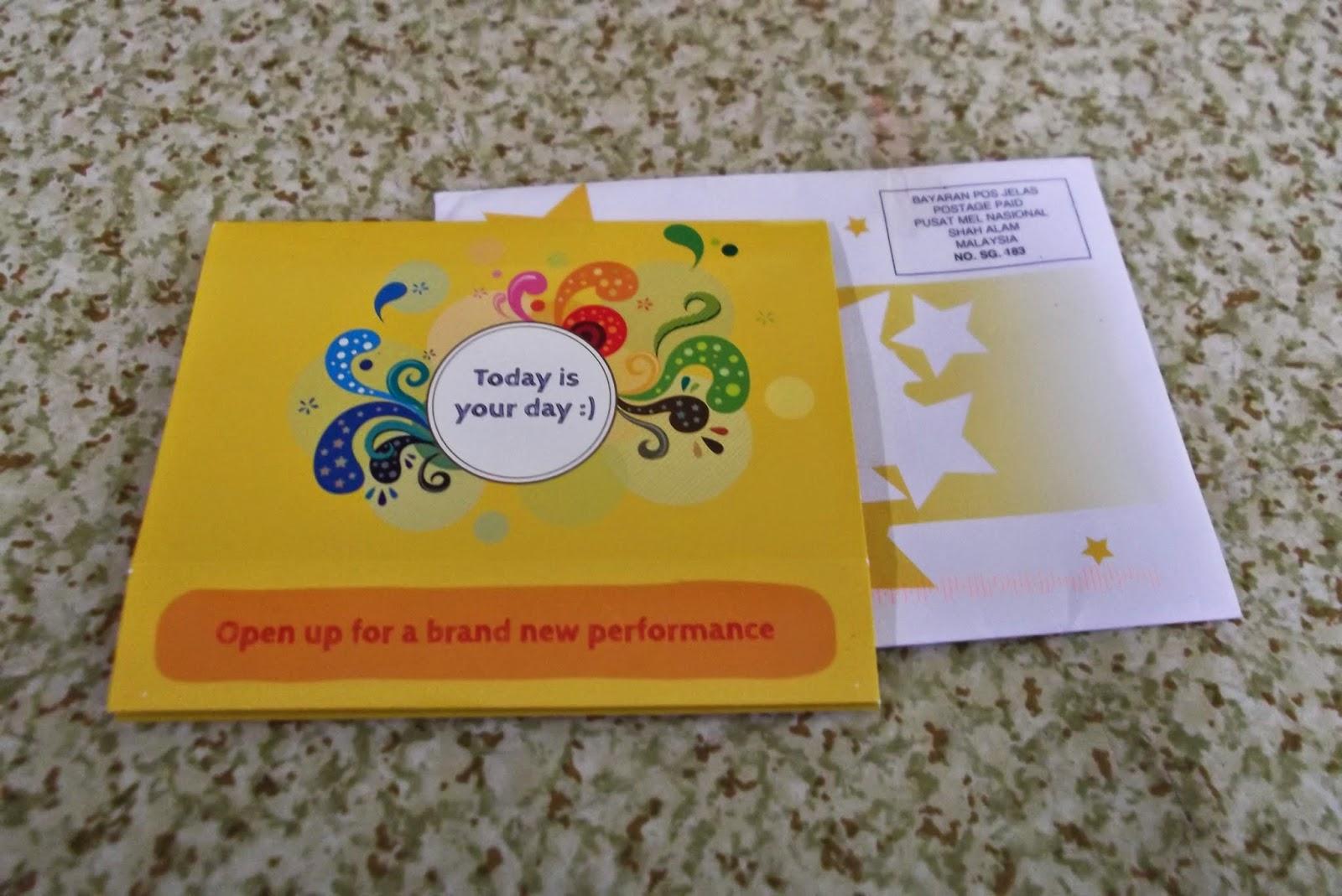 kad birthday dari Libresse